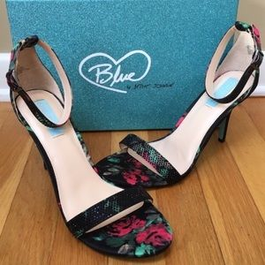 Blue by BETSEY JOHNSON 'Shilo' Ankle Strap Sandals